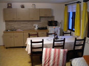 Kochnische in einer Familienwohnung
